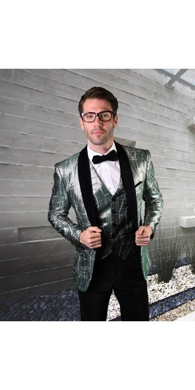 Men's Suit - Modern Fit - Abstract / Hunter Velvet