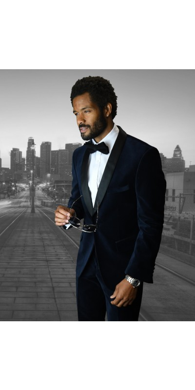 Men's Suit - Modern Fit - Navy Velvet