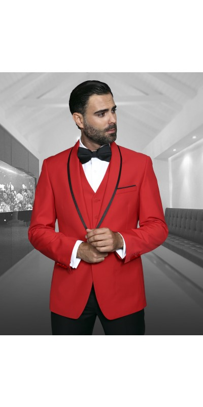 Men's Fashion Tux by STATEMENT - Genova Red