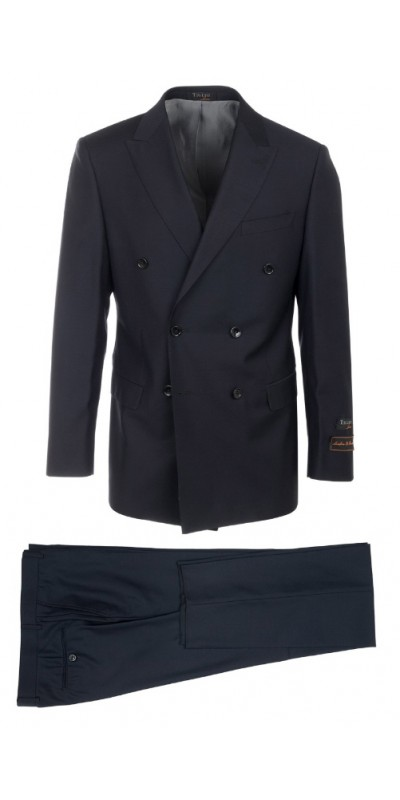 Tiglio Luxe Modern Fit Men's Suit - Merlot DB Navy