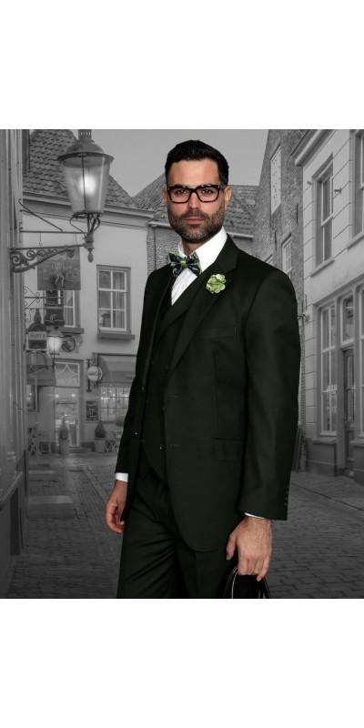 Men's Suit - Regular Fit - Messina Olive