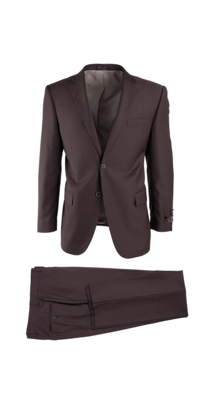 Novello Modern Fit Luxe Suit by Tiglio - Brown