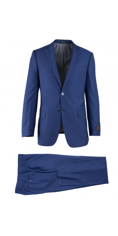 Novello Modern Fit Luxe Suit by Tiglio - French Blue
