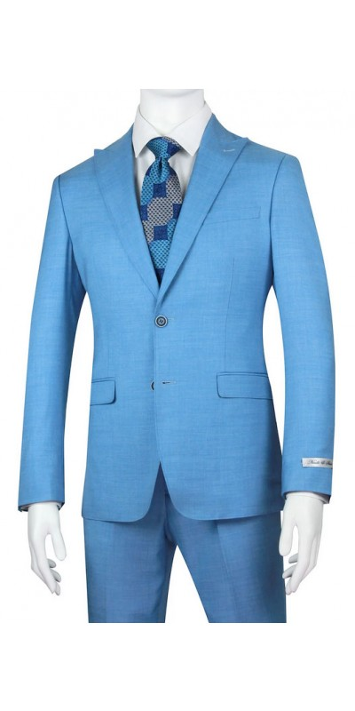 Needle & Stitch Men's Slim Fit 3 Piece Suit - Sky Blue