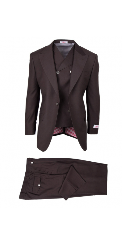 San Giovesse Full Cut Men's Suit  by Tiglio Rosso - Brown