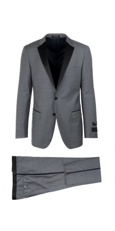 Slim Fit Tuxedo by Tiglio Luxe - Sienna Grey