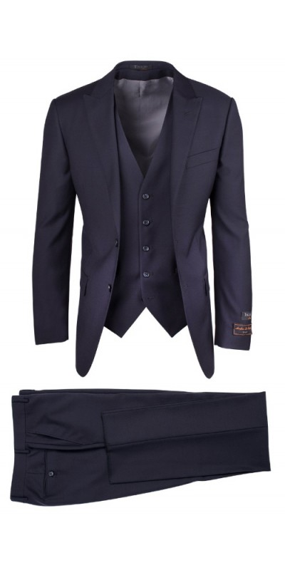 Tiglio Luxe Modern Fit Men's Suit - TUFO Navy
