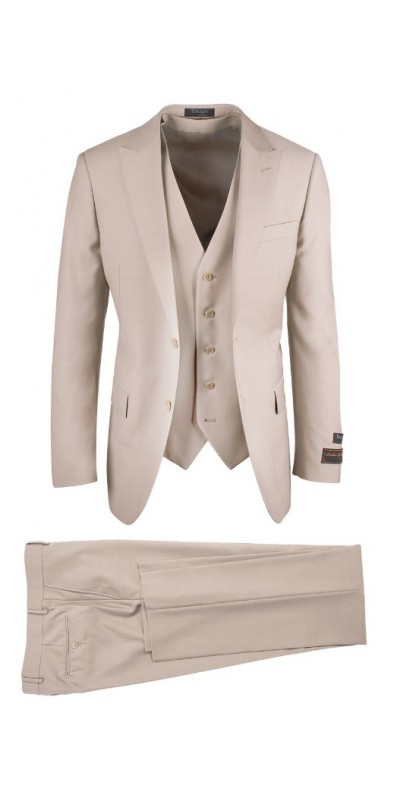 Tiglio Luxe Modern Fit Men's Suit - TUFO Tan