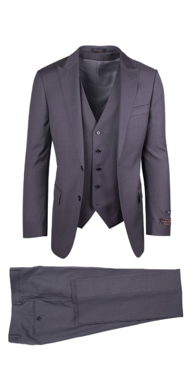 Tiglio Luxe Modern Fit Men's Suit - TUFO Gray