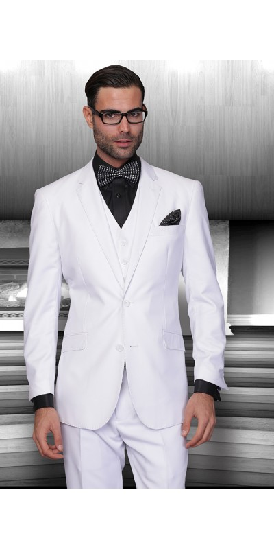 Men's 3 Pc Fashion Suit by STATEMENT - White