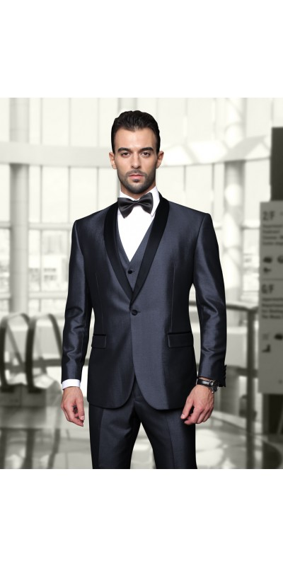 Men's Iridescent Tux by STATEMENT - Wynn Blue